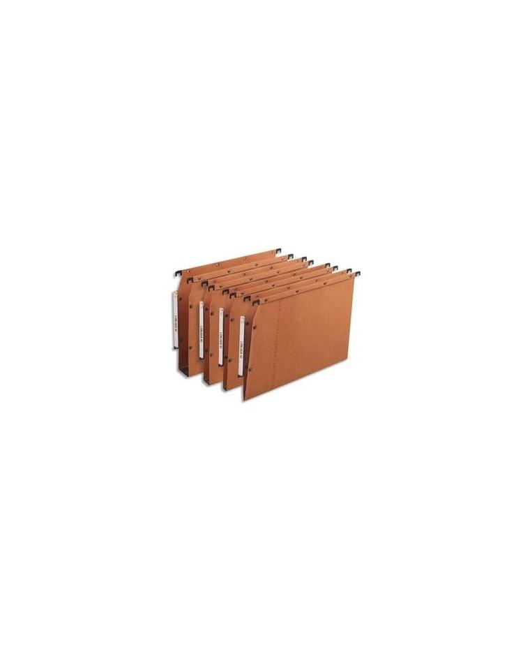 Elba 25 dossiers suspendus armoire fond 30MM kraft ORANGE 100330475
