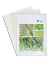 Exacompta boîte 100 pochettes à coin PVC 14/100 CRISTAL 661230E