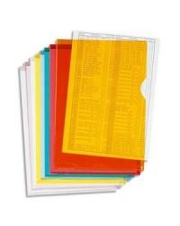 Exacompta boite 100 pochettes coin PVC 14/100e couleurs assorties 661200E