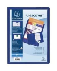 Exacompta chemise personnalisable 2 rabats Kreacover BLEU 43502E
