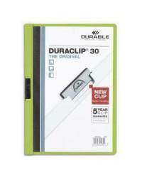 Durable chemise de présentation à clip DURACLIP 30 VERT 2200-05