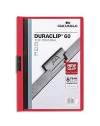 Durable chemise de présentation à clip DURACLIP 60 ROUGE 2209-03