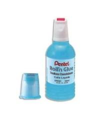 Pentel Flacon de colle liquide, Avec rouleau, Roll'n Glue, 30ML, ER153-SF