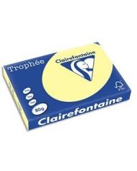 Clairefontaine ramette 500F papier A3 TROPHEE 80G JAUNE CANARI 1884C