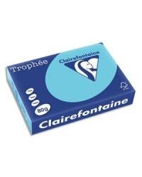 Clairefontaine ramette 500F papier A4 TROPHEE 80G BLEU Alizé 1774C