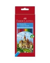 Faber Castell, Crayons de couleur, Château, étui de 12, 111212