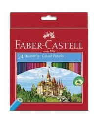 Faber Castell, Crayons de couleur, Château, étui de 24, 111224