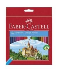 Faber Castell étui 24 crayons de couleur chateau 111224