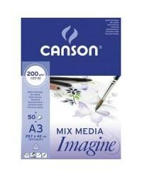 Canson bloc 50 feuilles papier dessin 200G A3 blanc 200006007