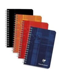 Clairefontaine carnet spirale 9X14 100 pages petits carreaux 5X5 68592C