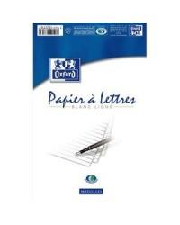 Oxford Bloc de papier à lettres, A5, 50 feuilles lignées, 100104185