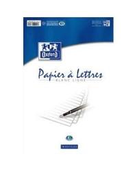 Oxford Bloc de papier à lettres, A4, 50 feuilles lignées, 100102126
