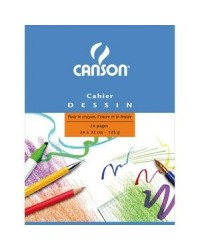 Canson Cahier de dessin 24x32, 24 pages blanches, 125g, 200027109