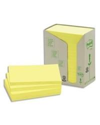 Post it Notes adhésives recyclées, 76x127mm, Jaune, Tour de 16, BP114 / FT510110362