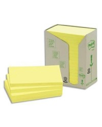 Post it tour 16 blocs notes 100F 76X127 recyclé JAUNE BP114