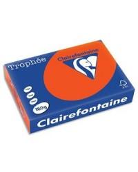 Clairefontaine ramette 250F papier A4 TROPHEE 160G ROUGE CARDINAL 1021C