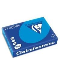 Clairefontaine ramette 250F papier A4 TROPHEE 160G BLEU TURQUOISE 1022C