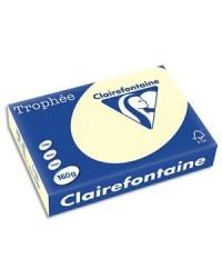 Clairefontaine ramette 250F papier A4 TROPHEE 160G IVOIRE 1101C