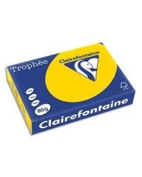 Clairefontaine ramette 500F papier A4 TROPHEE 80G JAUNE BOUTON D'OR 1780C