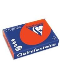 Clairefontaine ramette 500F papier A4 TROPHEE 80G ROUGE CARDINAL 1873C