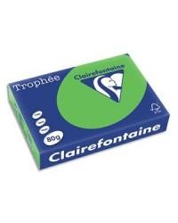 Clairefontaine ramette 500F papier A4 TROPHEE 80G VERT MENTHE 1875C