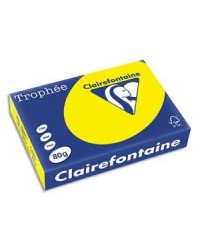 Clairefontaine ramette 500F papier A4 TROPHEE 80G JAUNE SOLEIL 1877C