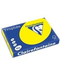 Clairefontaine ramette 500F papier A3 TROPHEE 80G JAUNE SOLEIL 1887C