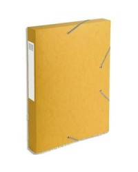 Exacompta boite de classement dos 40MM JAUNE CARTOBOX 14006H