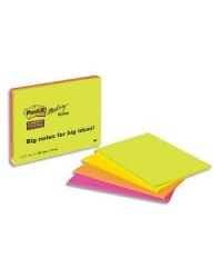 Post-it lot 4 blocs notes STICKY NEON ASS 203X15 6845-SSP