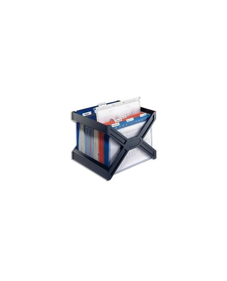 Durable bac de classement Carry Plus noir avec dossiers suspendus -2611-01