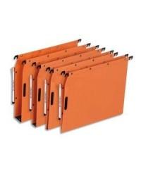 Elba bte 25 dossiers suspendus armoire fond 15MM kraft orange velcro ultimate 100330541