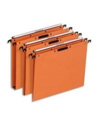 Elba bte 25 dossiers suspendus tiroir fond 15MM kraft orange velcro ultimate 100330350