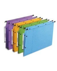 Elba Dossiers suspendus AZV, Ultimate, Armoire, Fond 15mm, Kraft, Assorti, 100330485
