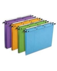 Elba bte 25 dossiers suspendus tiroir fond 15MM kraft couleurs assorties 100330280