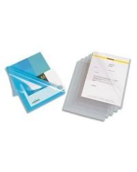 Elba boite 100 pochettes coin PVC 15/100 incolore 400052803