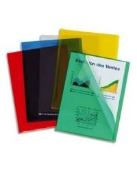 Esselte boite 100 pochettes coin PVC 20/100e couleurs assorties 420103