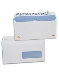 GPV Enveloppes DL, 110x220, Blanches, 90g, Fenêtre 45x100, Auto adhésives, NFPEFC, GPV 2715