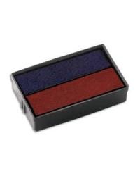 Colop boîte de 2 recharges E/10/2 bleu/rouge 06108B2