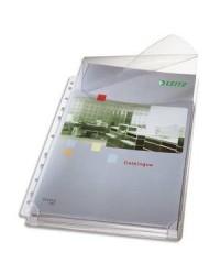 Leitz sachet 5 pochettes plan perforées A4 avec rabat 47573003