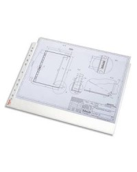 Esselte Pochettes plastique perforées, Standard Plus, A3 à l'italienne, Paysage, Sachet de 50, 55230