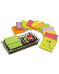 Post-it Distributeur Dévidoir Z-Notes, noir/transparent, pack économique, DS100-VP