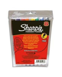 Sharpie pack 8 marqueurs pointe fine assortis S0814660