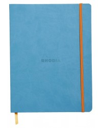 Rhodia Carnet souple, A5 148x210mm, Rhodiarama, 160 pages, Ligné, Turquoise, 117407