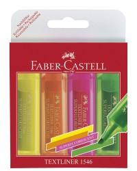 Faber castell Surligneur TEXTLINER 1546, étui de 4 assortis, 154604