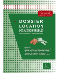 Exacompta Dossier de location, Vide, Locaux non meublés, Résidence principale, 44E