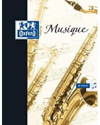 Oxford Cahier de musique, 24x32, 48 pages portées + séyès, 100101475