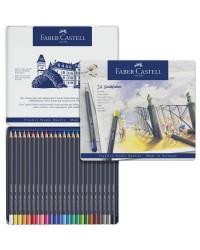 Faber castell étui métal 24 crayons de couleur goldfaber 114724