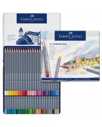 Faber castell étui métal de 48 crayons de couleur aquarellables GOLDFABER AQUA 114648