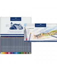 Faber castell étui métal de 36 crayons de couleur aquarellables GOLDFABER AQUA  114636