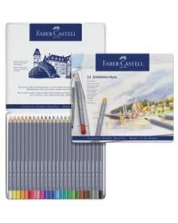 Faber castell étui métal de 24 crayons de couleur aquarellables GOLDFABER AQUA  114624
